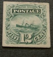 US 117P4 1869 12 CENT CARD PROOF