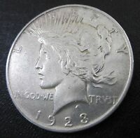 1923 D PEACE SILVER DOLLAR ONE $