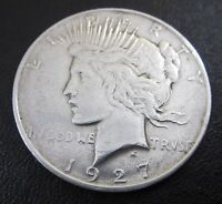1927 D PEACE SILVER DOLLAR ONE $