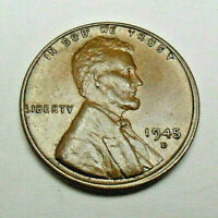 1945 D LINCOLN WHEAT CENT / PENNY COIN  FINE OR BETTER  SHIPS FREE