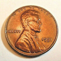 1951 P LINCOLN WHEAT CENT / PENNY COIN   FINE OR BETTER   SHIPS FREE