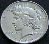 1923-D PEACE SILVER DOLLAR CIRCULATED MM496