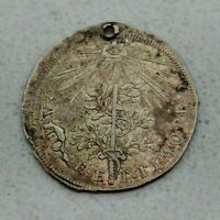 OLD 1690 AUGSBURG GERMAN STATE HOLY ROMAN EMPIRE SILVER CORONATION JETTON