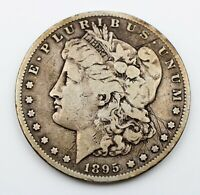 1895-S MORGAN SILVER DOLLAR, VF DETAILS SCRATCHED
