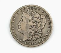 1893-CC MORGAN SILVER DOLLAR  DATE VF   WE HAVE THE TOUGH DATES