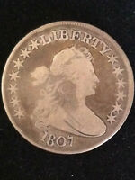 1807 DRAPED BUST HALF DOLLAR 50C   VG DETAILS   EARLY TYPE C