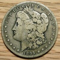 1895-S MORGAN SILVER DOLLAR $1  LOW-MINTAGE  SAN FRANCISCO MINT COIN