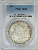 1900-P PCGS SILVER MORGAN DOLLAR US COIN MINT STATE 64 CERT2855
