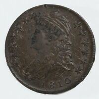RAW 1810 CAPPED BUST 50C CIRCULATED UNCERTIFIED UNGRADED SIL