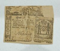 OLD 1771 USA AMERICAN NEW YORK 20/  1 COLONIAL BANKNOTE FRNY 163