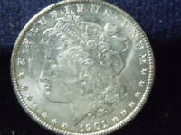 1901 O MORGAN SILVER DOLLAR BU DETAILS  COIN  LOAD OF MINT LUSTER  D-293