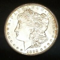 1892-CC MORGAN SILVER DOLLAR AWESOME NEAR-AU COIN LOADED WITH ORIGINAL LUSTER