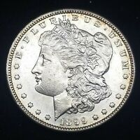 1899 S MORGAN SILVER DOLLAR EXTRA FINE -AU DETAILS, OLD CLEANING