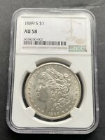 M13281- 1889-S MORGAN DOLLAR NGC AU58