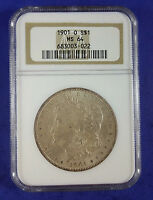 1901 O MORGAN SILVER DOLLAR NGC MINT STATE 64