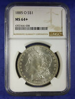 1885 O MORGAN SILVER DOLLAR NGC MINT STATE 64