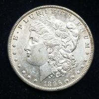 1896-O MORGAN SILVER DOLLAR CHOICE AU BOLD DETAILS AND  LUSTER