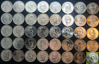 COMPLETE PRESIDENTIAL DOLLAR 40 COIN SET LOOSE ROLL ONE EA 2007 2016   2020 BUSH