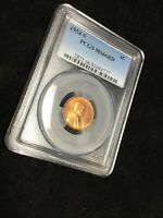 1954-S LINCOLN WHEAT CENT-PCGS MINT STATE 66 RD BRILLIANT UNCIRCULATED