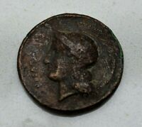 LARGE 18TH 19TH CENTURY GRAND TOUR FANTASY ANCIENT GREEK COIN  NICE