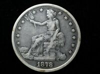 1878 S SILVER TRADE DOLLAR CIRCULATED GOOD CONDITION GREAT
