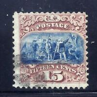 US STAMPS   118   USED   15 CENT TYPE I  1869 PICTORIAL ISSU