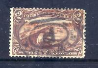 US STAMPS   293   USED   $2   TRANS MISSISSIPPI EXPO ISSUE