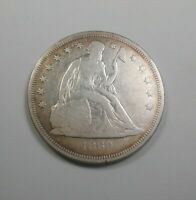 1860   O OLD NEW ORLEANS SEATED DOLLAR   CIVIL WARS TIMES