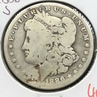 1886 S MORGAN DOLLAR $1 CIRCULATED 4760