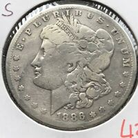 1886 S MORGAN DOLLAR $1 CIRCULATED 4352