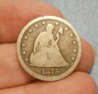 1875   S 20 CENT PIECE   ORIGINAL NOT CLEANED