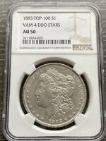 M13479- 1893 VAM-4 DOUBLED STARS TOP 100 MORGAN DOLLAR NGC AU50