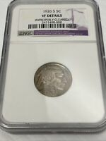 1926-S BUFFALO NICKEL NGC VF DETAILS CLEANED
