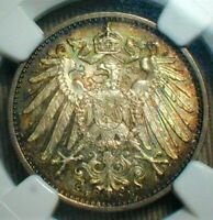 1907 E GERMANY MARK NGC MINT STATE 68 TONED FINEST KNOWN TOP POPULATION---------- 101