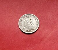 1839 SEATED LIBERTY SILVER HALF DIME HIGH GRADE UNITED STATES TYPE COIN XF
