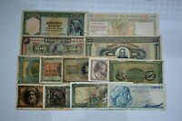 LOT OF 13 OLD GREECE GREEK DRACHMAI BANKNOTES 1928 64 DECO OCCUPATION NICE