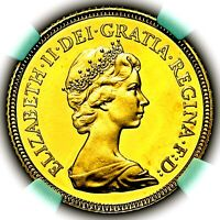 1982 ELIZABETH II GREAT BRITAIN GOLD PROOF HALF 1/2 SOVEREIG