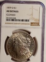 1879 O MORGAN DOLLAR, BEAUTIFUL BRILL AU DETAILS.  NGC CERTIFIED. CLEANED LE485