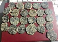 CINCIN 19 LOT 22 OF SPANISH COLONIAL COINS MARAVEDIS WITH CO