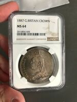 GREAT BRITAIN 1887 CROWN NGC MS 64