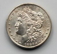 1886-O MORGAN DOLLAR, EXTREME DETAIL  IN THIS CONDITIO BU CLEANED