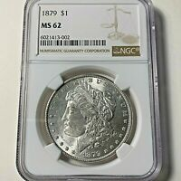1879  P - $1 US MORGAN SILVER DOLLAR NGC MINT STATE 62 CERTIFIED - SHIPS FREE <-