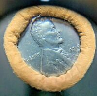 1943-S ORIGINAL BANK WRAPPED ROLL LINCOLN CENTS