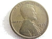 -1918  LINCOLN WHEAT  ,  ONE CENT .6.8/25