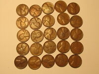 1/2 ROLL 1932 P LINCOLN WHEAT CENTS PENNY IN GOOD OR BETTER CONDITION 25 COINS