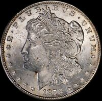 1878-S MORGAN SILVER DOLLAR BU UNCIRCULATED 90 SILVER 10