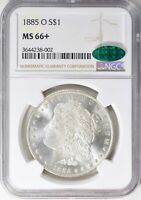 1885-O $1 MORGAN SILVER DOLLAR, NGC MINT STATE 66, CAC APPROVED