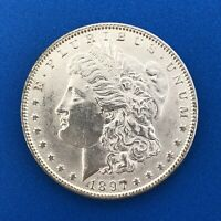 1897 P MORGAN SILVER DOLLAR $1 UNC DETAILS BETTER KEY PHILADELPHIA MINT COIN
