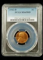 1942 D PCGS MINT STATE 65 RED