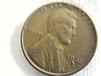 1935 S  LINCOLN WHEAT , ONE CENT .6.8/30